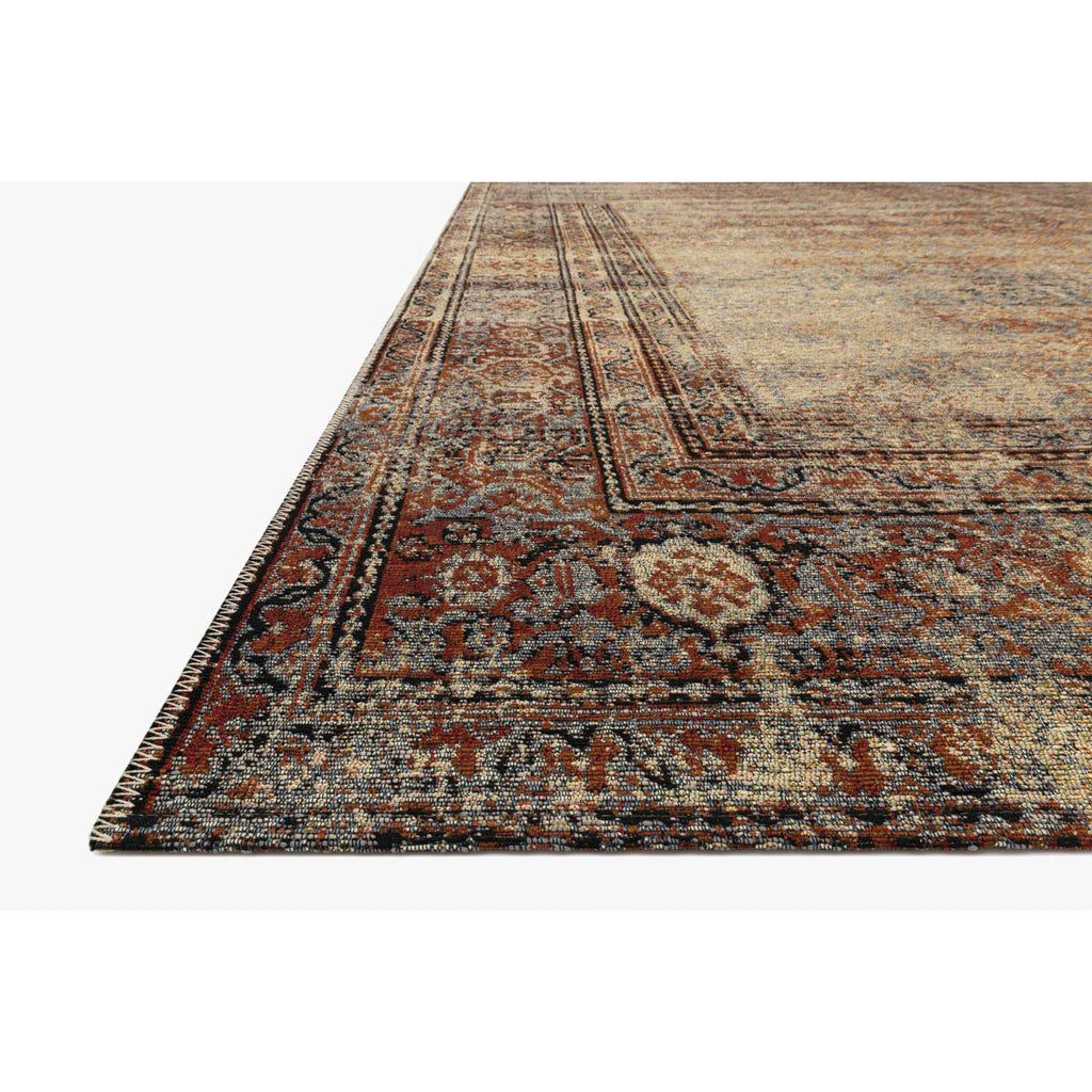 NATURAL / BRICK SEBASTIAN RUG