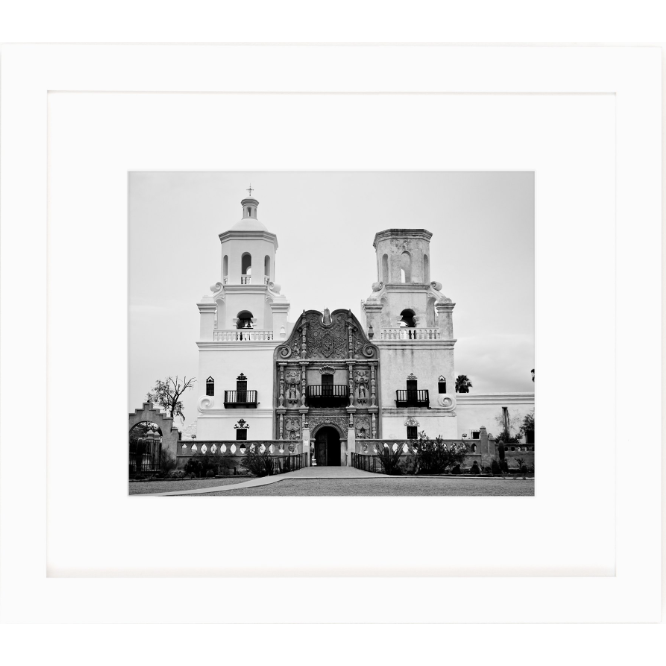 historic mission print in black and white by cc and mike the shop