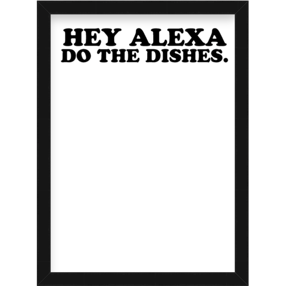 HEY ALEXA DO THE DISHES