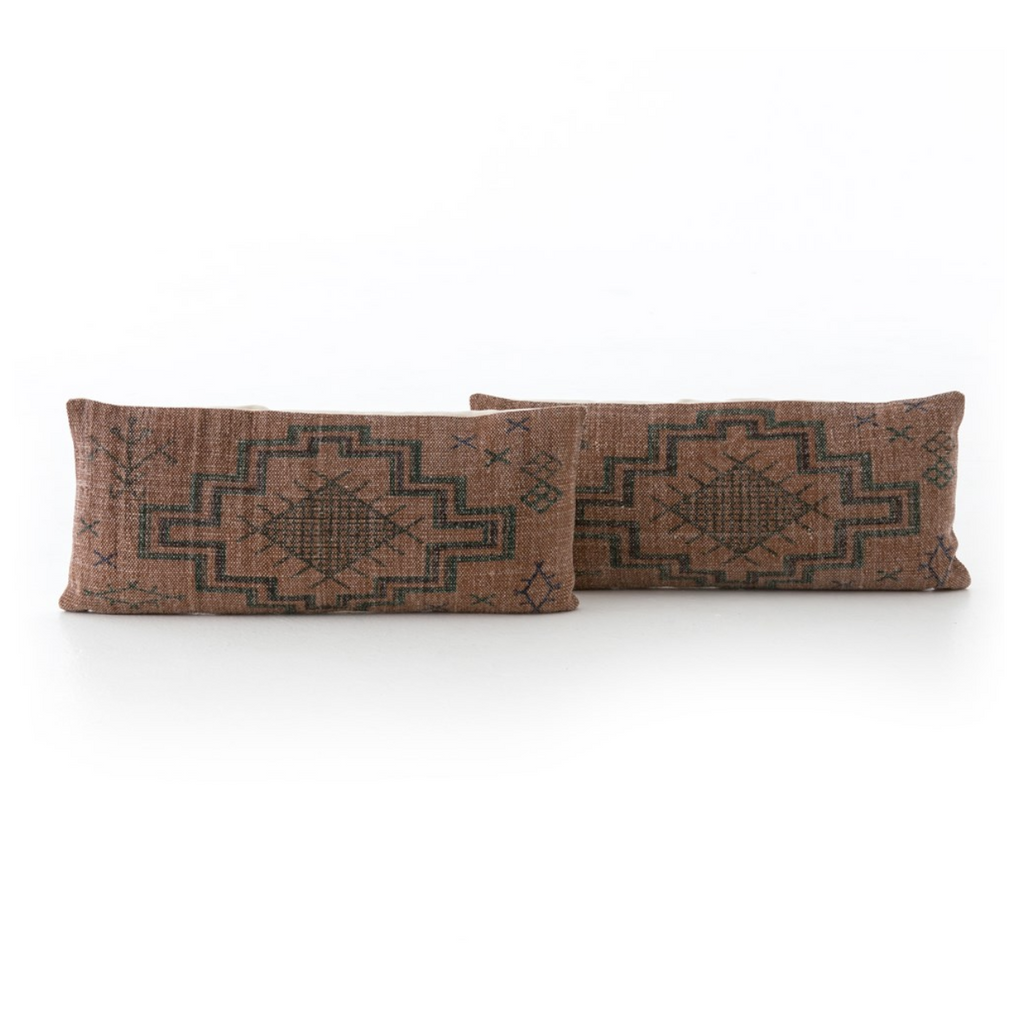 TRIBAL RUST LUMBAR - SET OF 2