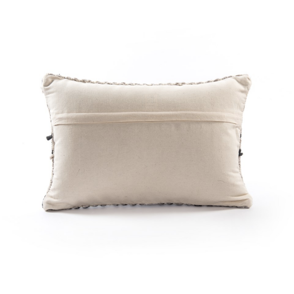 GREY PATTERNED PILLOW - SET OF 2