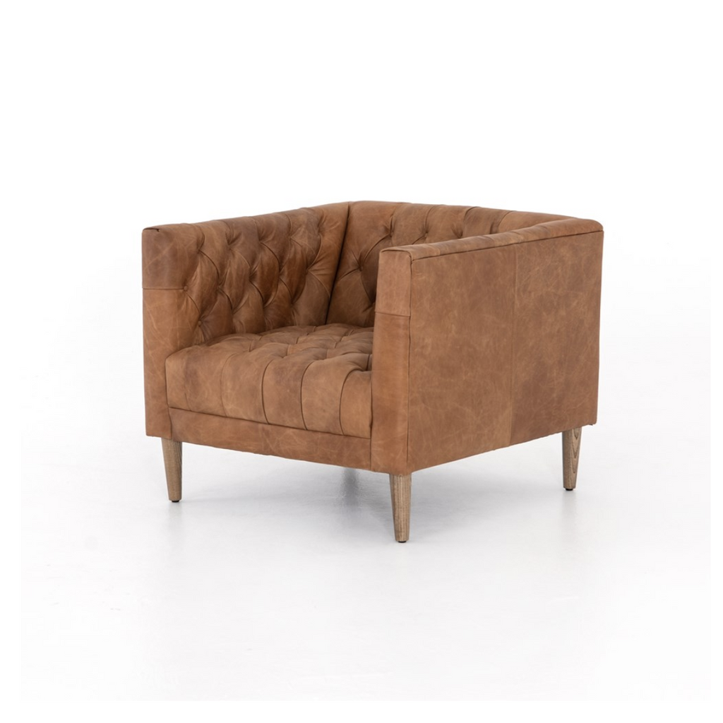WILLIAMS TUFTED LEATHER CHAIR