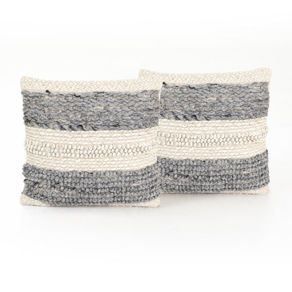 TEXTURED STRIPED PILLOW - SET OF 2