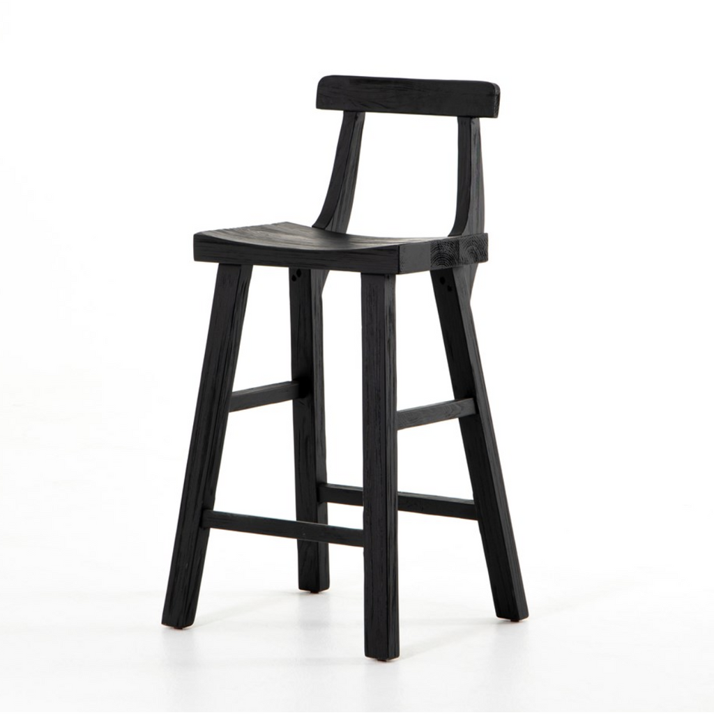 CASSELL BAR & COUNTER STOOL - BLACK