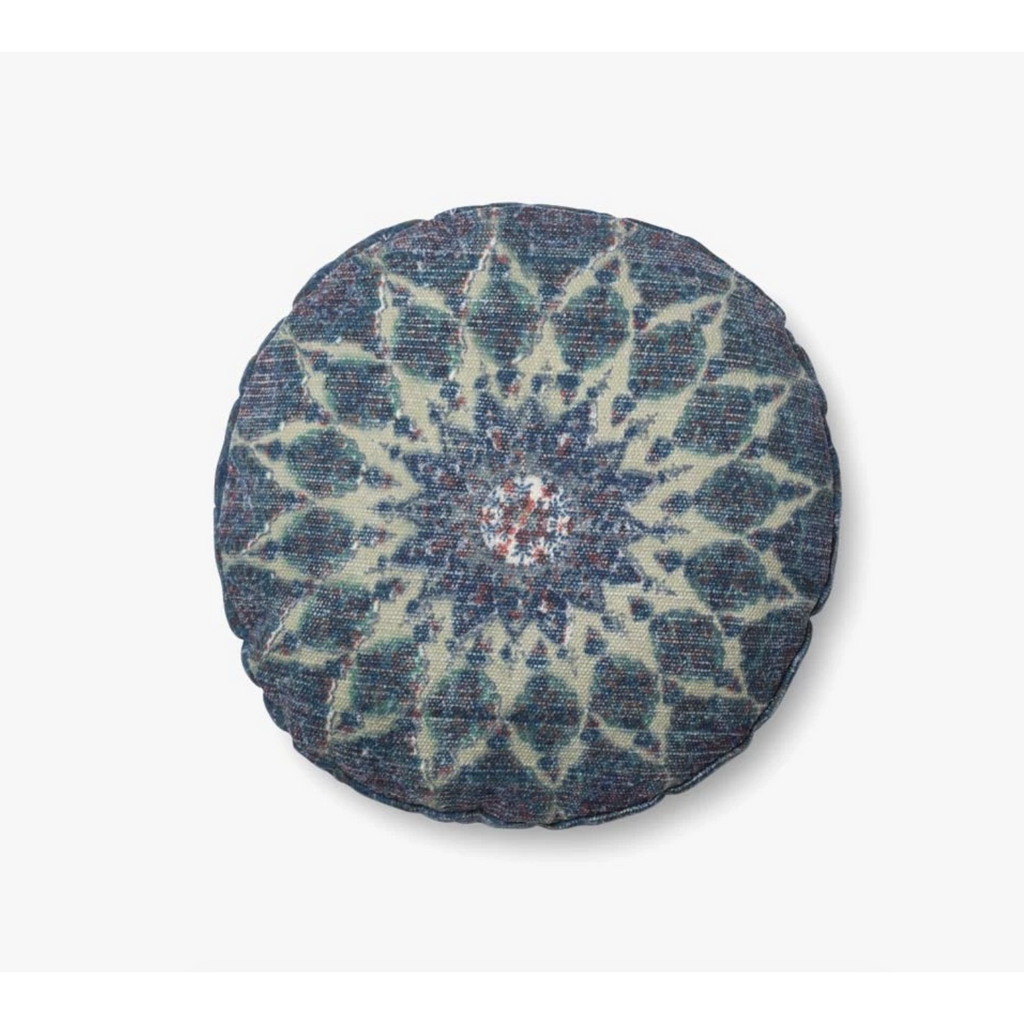 blue / teal round pillow by justina blakeney