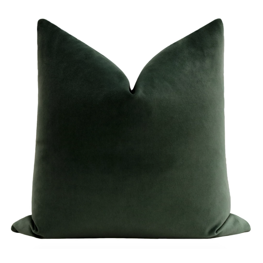 SOCIETY VELVET EMERALD PILLOW
