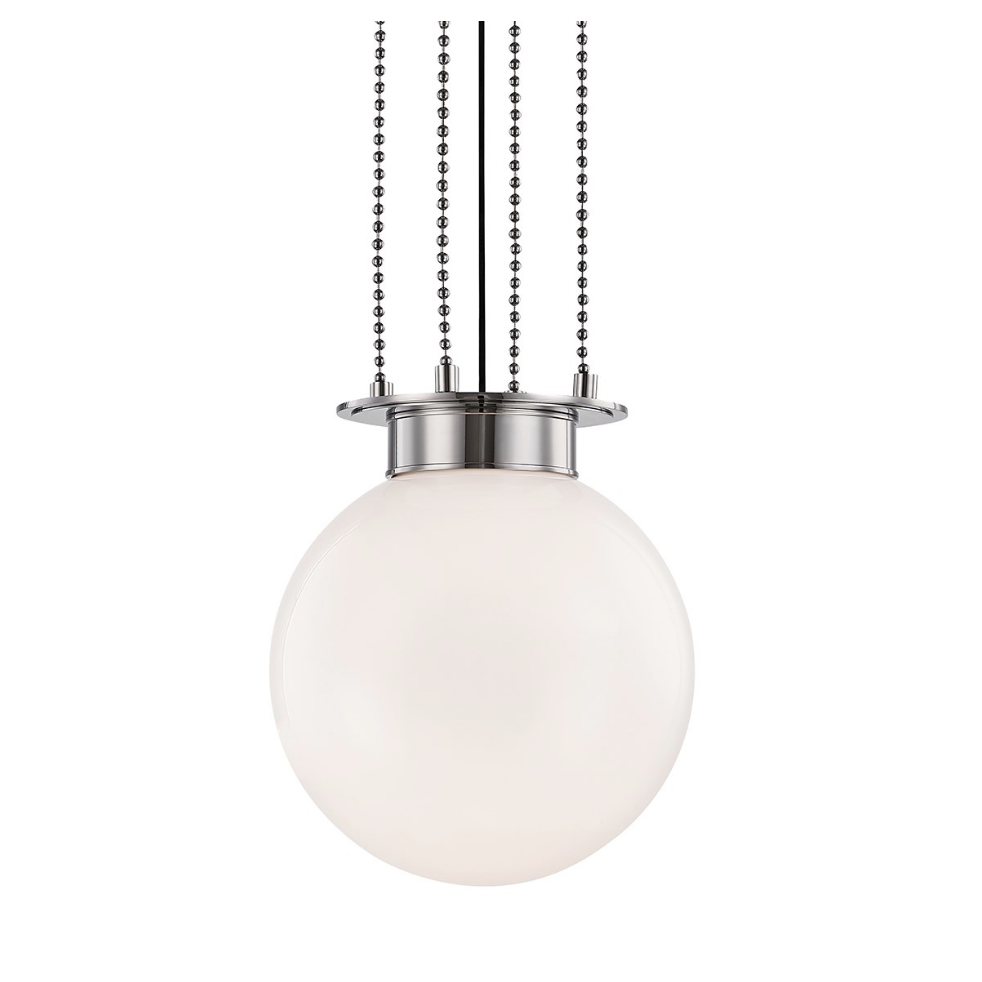 gunther medium pendant in polished nickel