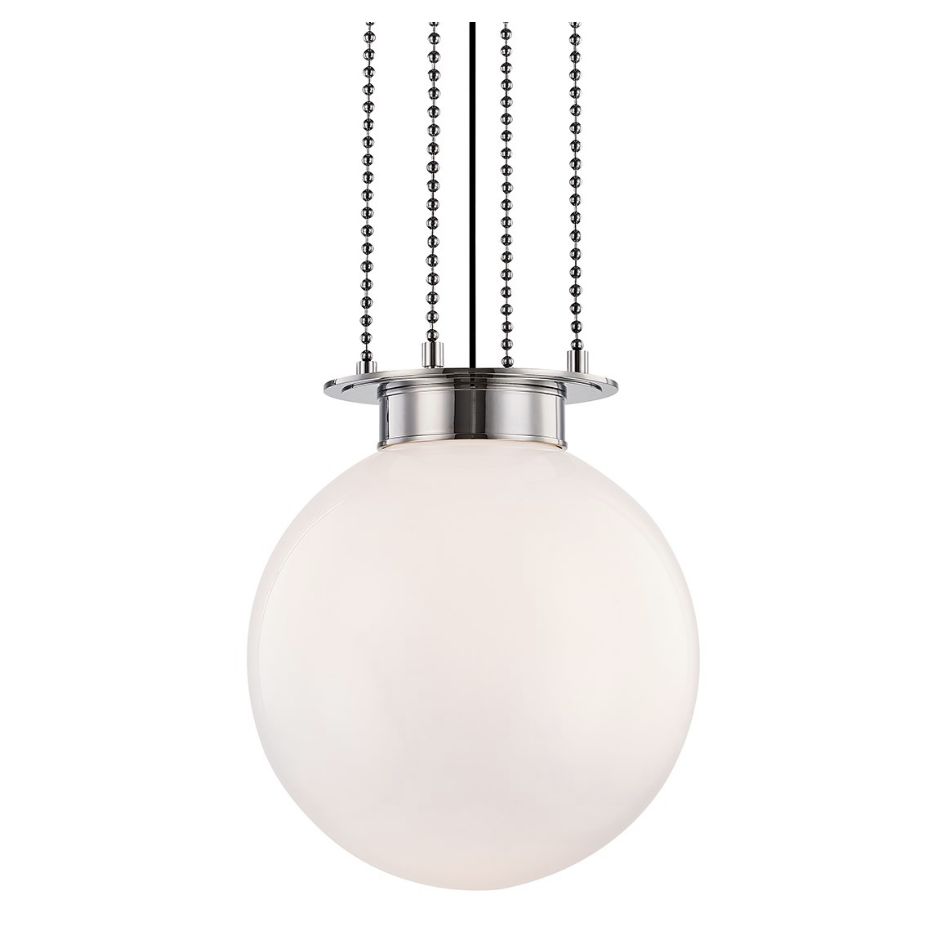gunther large pendant in polished nickel