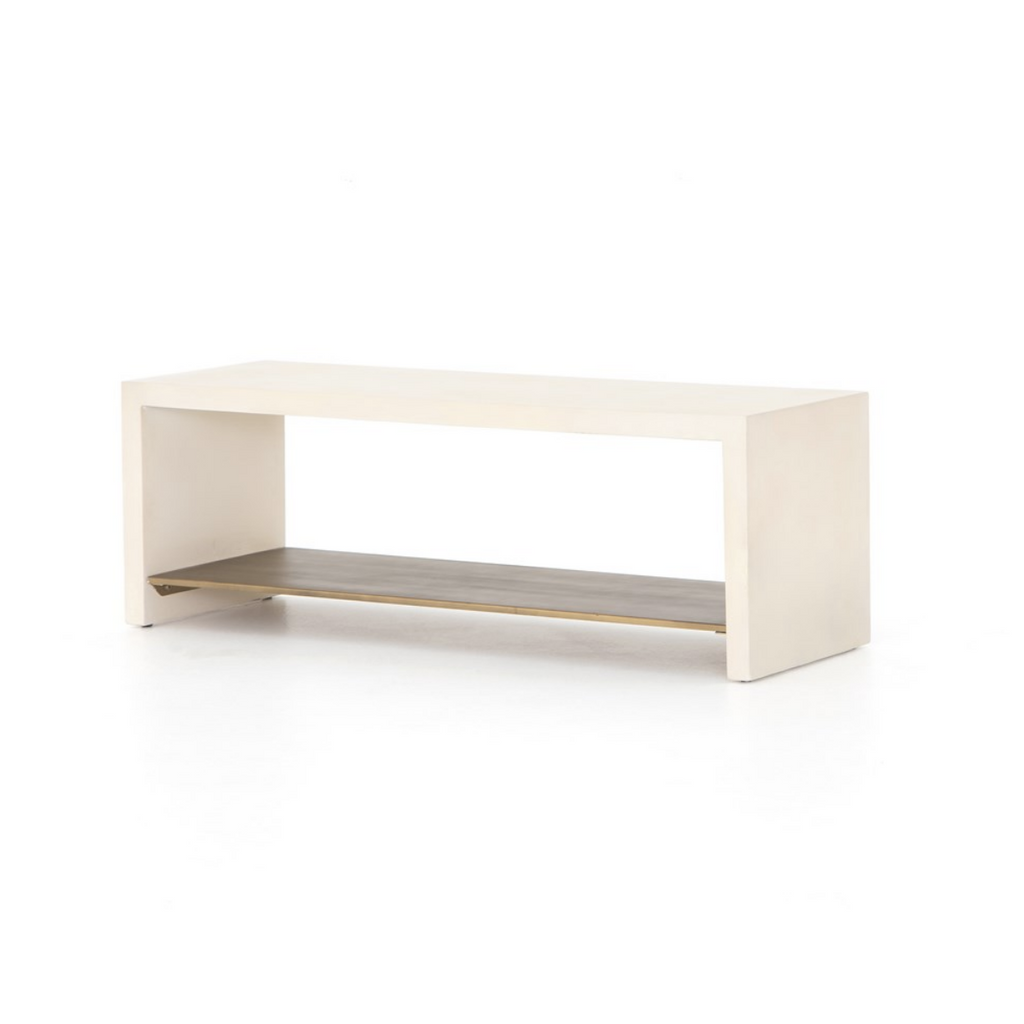 HUGO BENCH - PARCHMENT WHITE