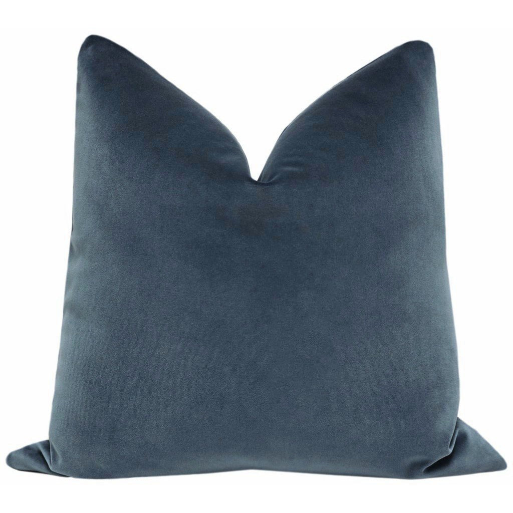 SIGNATURE VELVET PRUSSIAN PILLOW
