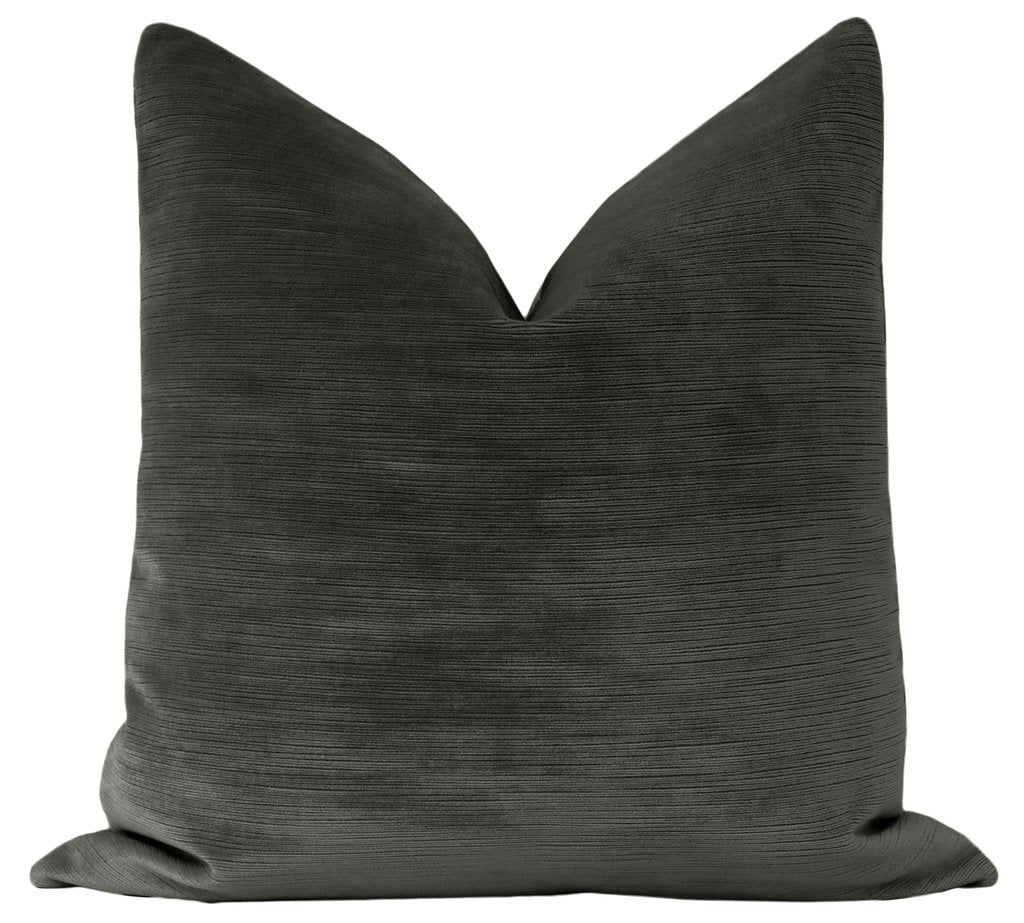 STRIE VELVET GRAPHITE PILLOW