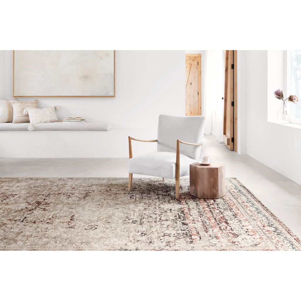 TAUPE/ BRICK THEIA RUG