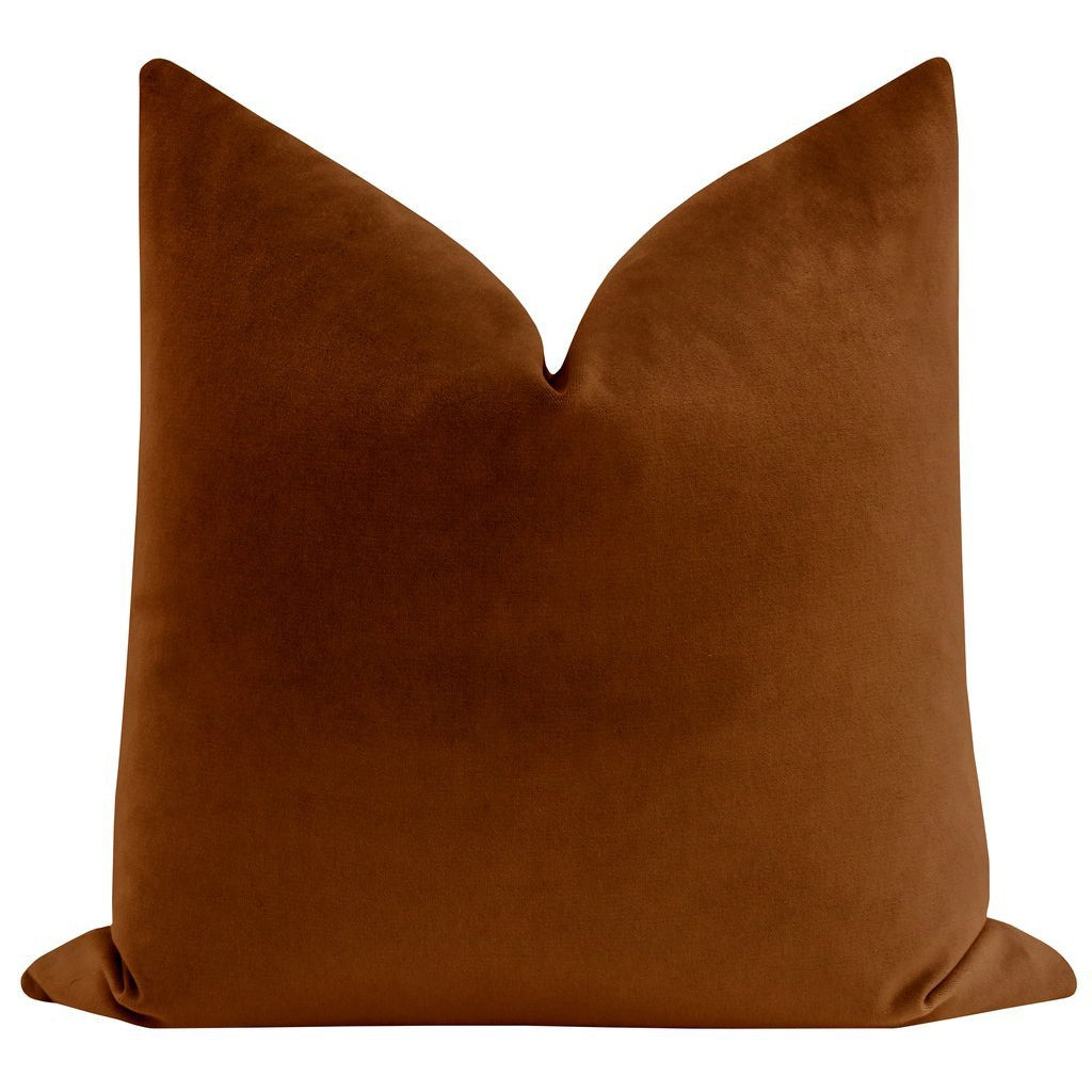 SOCIETY VELVET COGNAC PILLOW