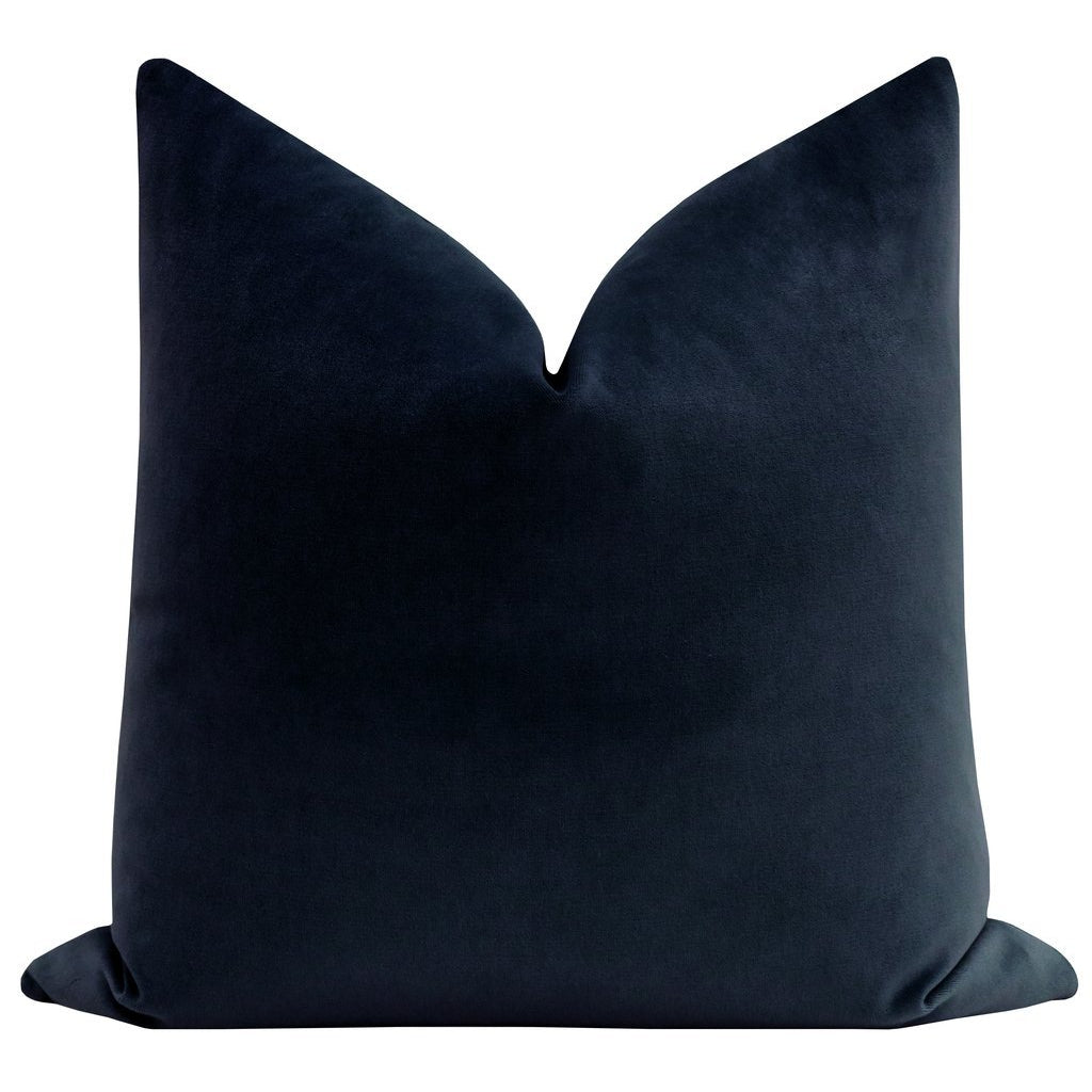 SOCIETY VELVET NAVY PILLOW