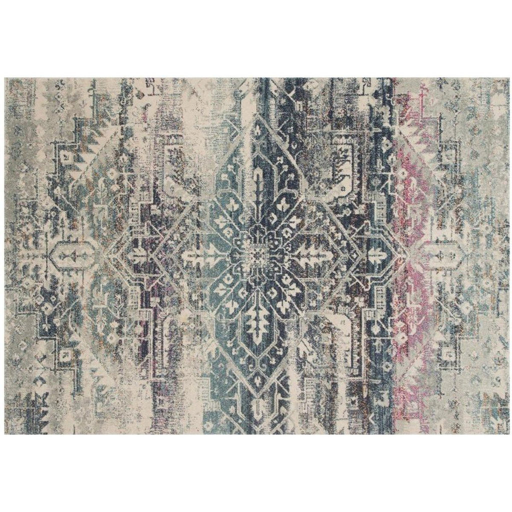 MIDNIGHT AND MULTICOLOR ZEHLA RUG