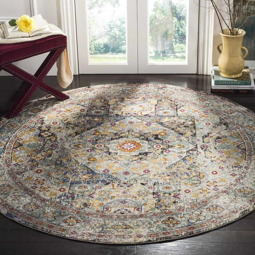 BLUE/ MULTI ARIA RUG