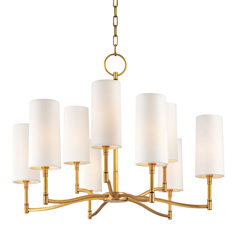 AGED BRASS DILLON CHANDELIER