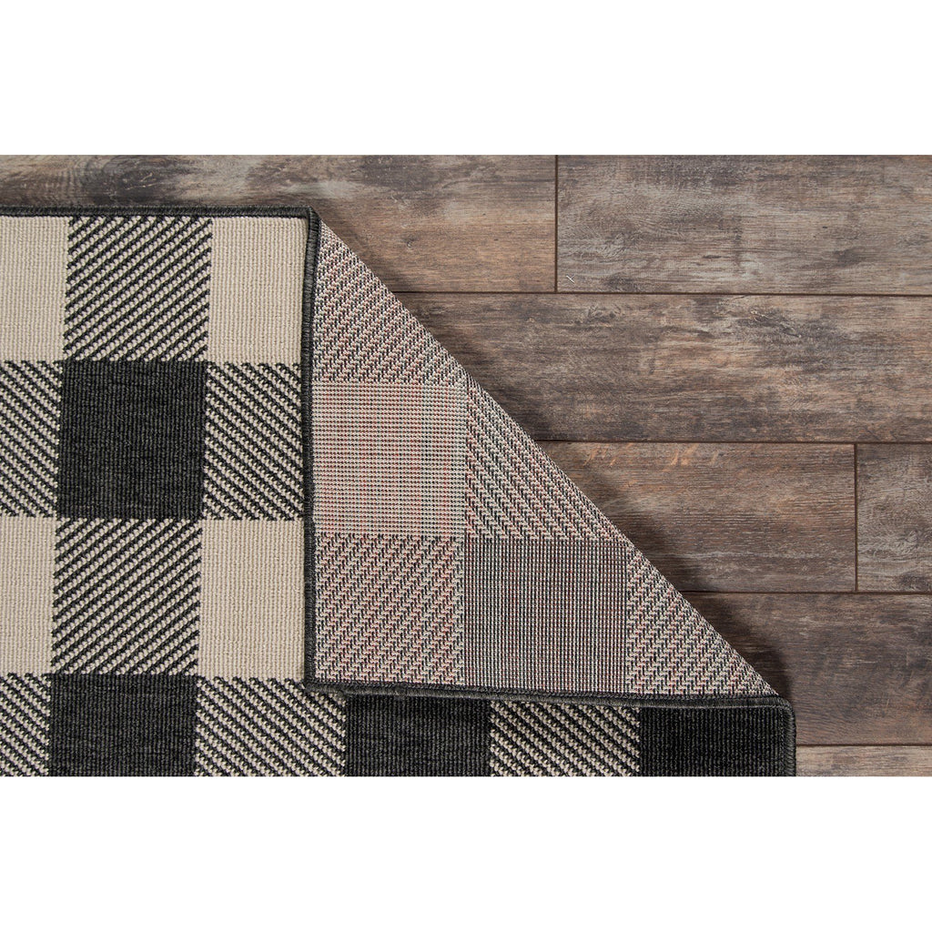 BAJA CHARCOAL PLAID RUG