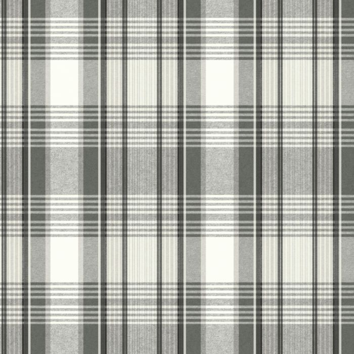 bartola plaid wallpaper in black/white