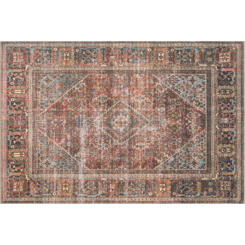 brick midnight loren rug
