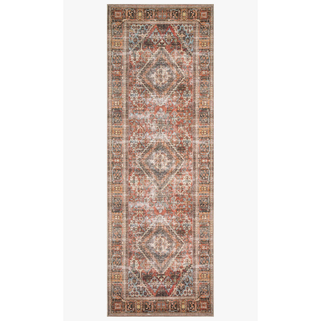 brick midnight loren rug runner