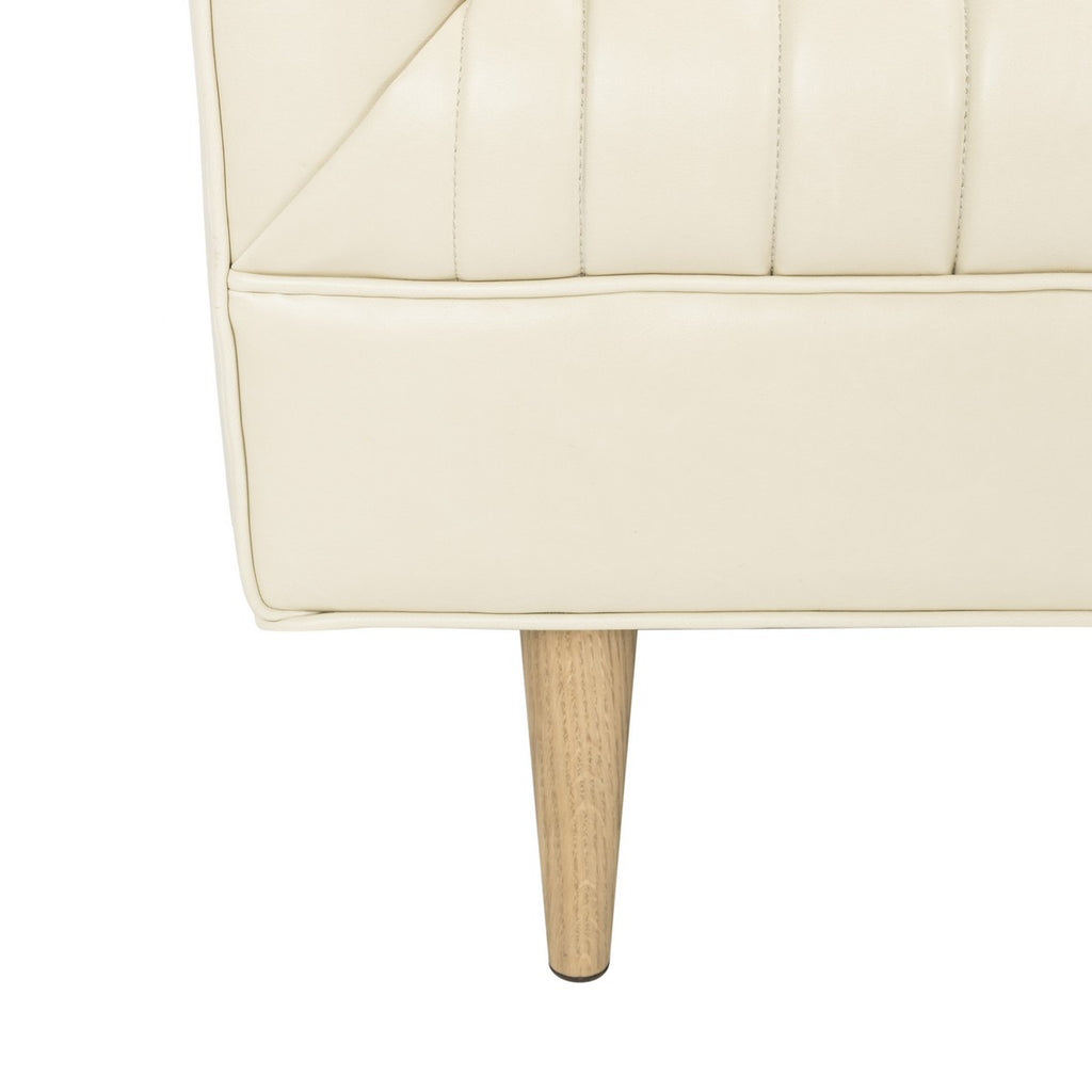 light beige leather couch legs