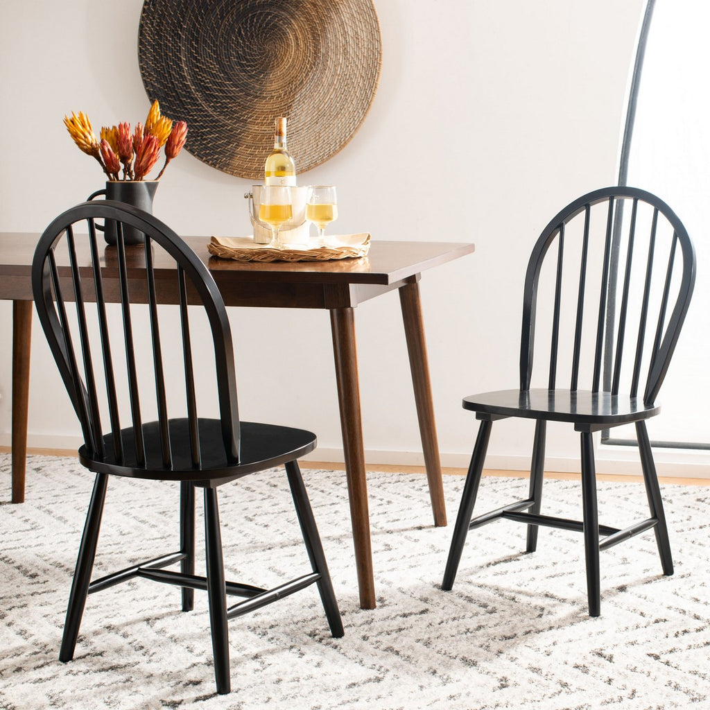 OVAL SPINDLE CHAIRS - SET OF 2