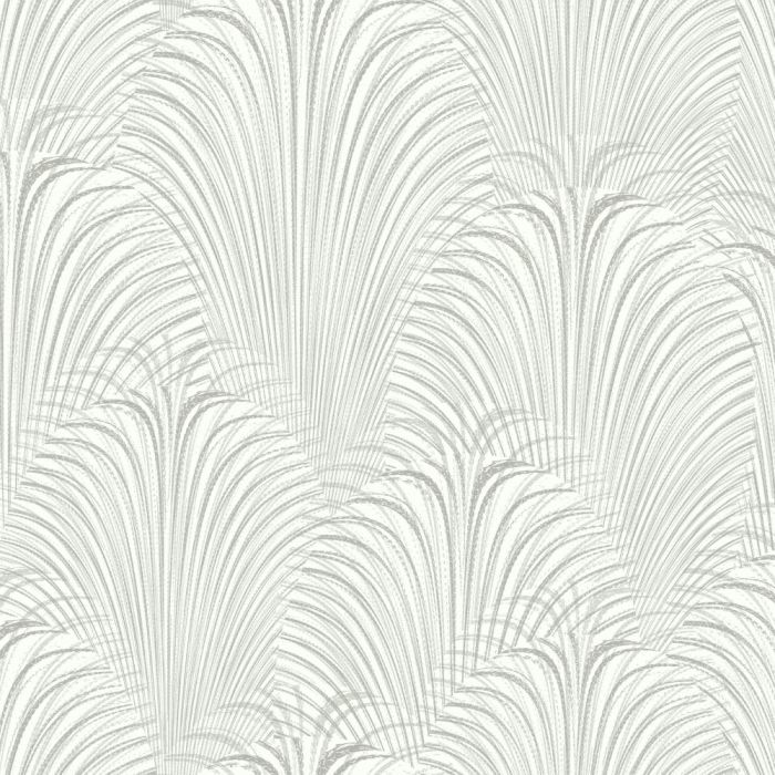 deco fountain wallpaper white/silver