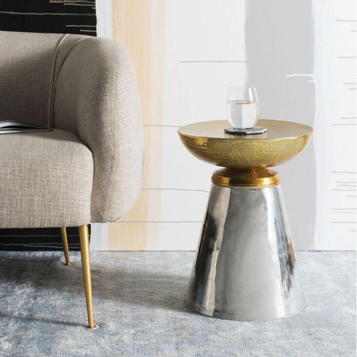 dov drum side table in living room