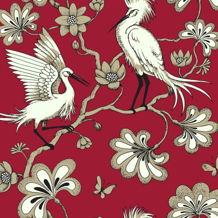 red/black egrets wallpaper