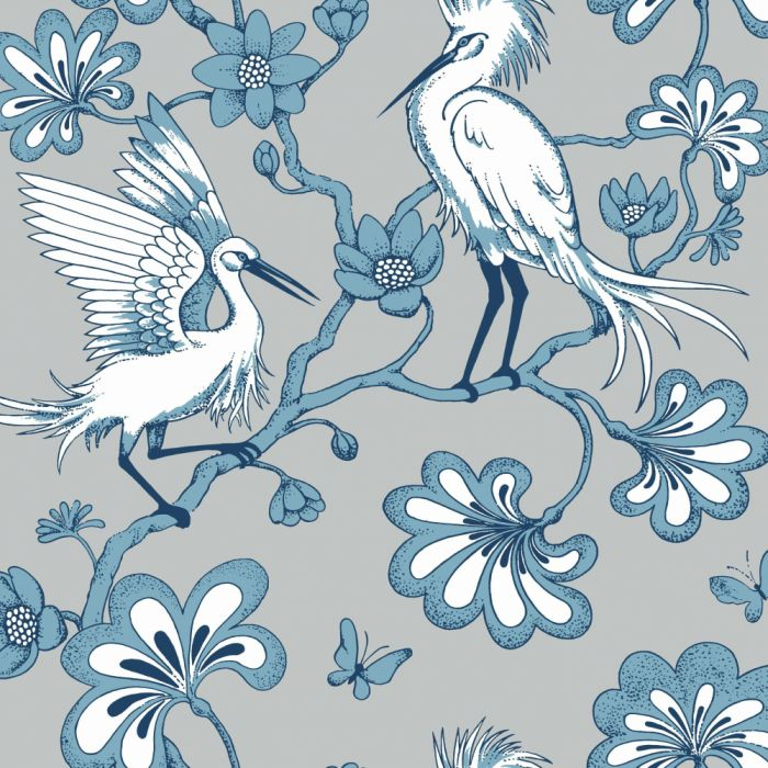grey/blue egrets wallpaper