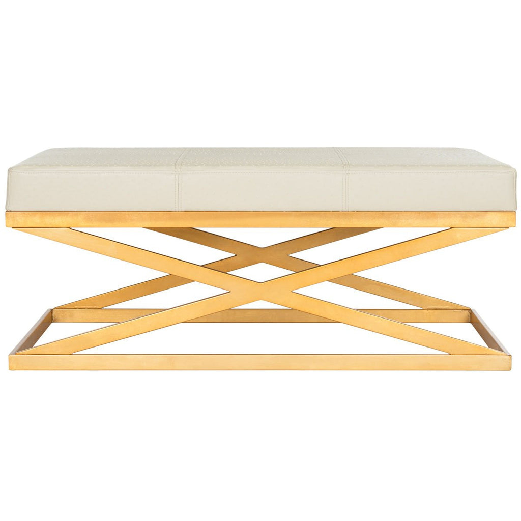 ALEXES CREME/GOLD BENCH