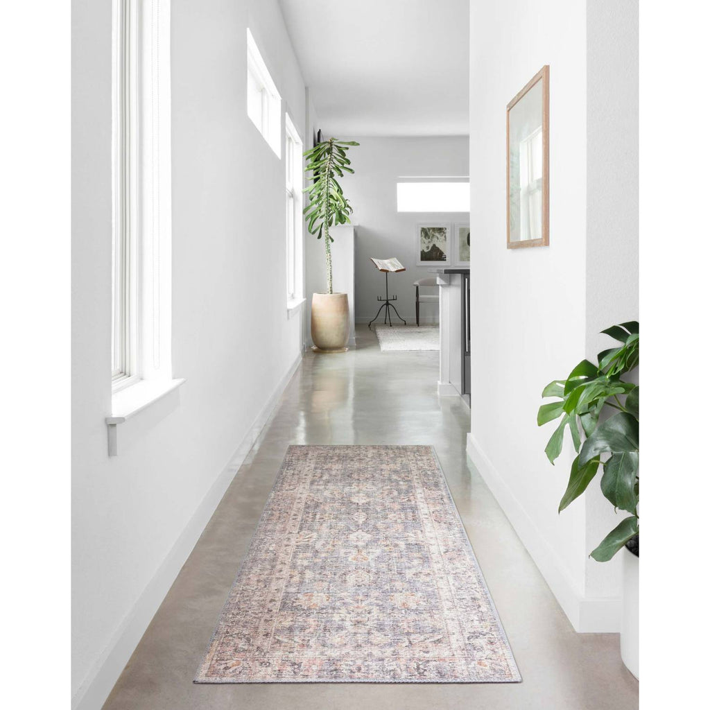 grey apricot sky rug in hallways
