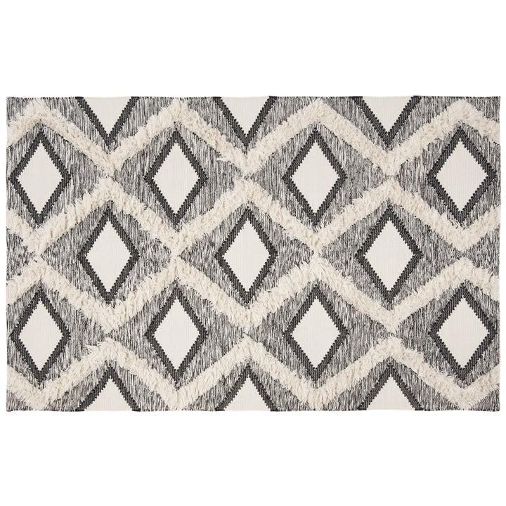 BLACK/ IVORY DIAMOND EASTON RUG