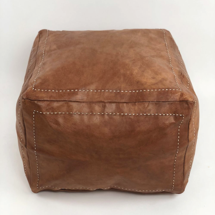 manu leather poof 2