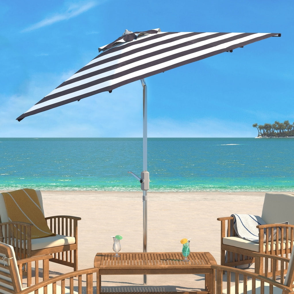 MIAMI BEACH BLACK/ WHITE UMBRELLA
