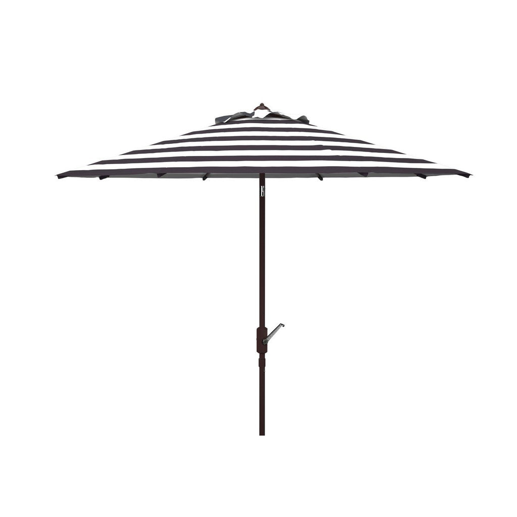 MIAMI BEACH BLACK/ WHITE 11 FT UMBRELLA