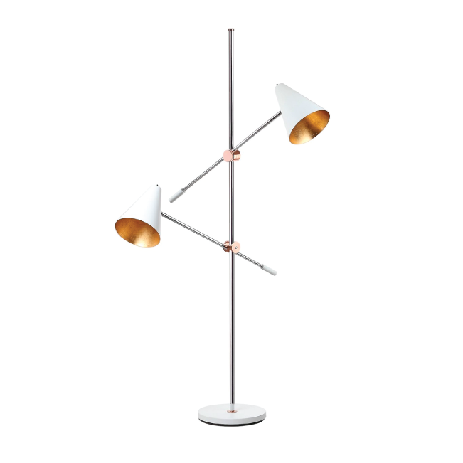 WHITE REED FLOOR LAMP