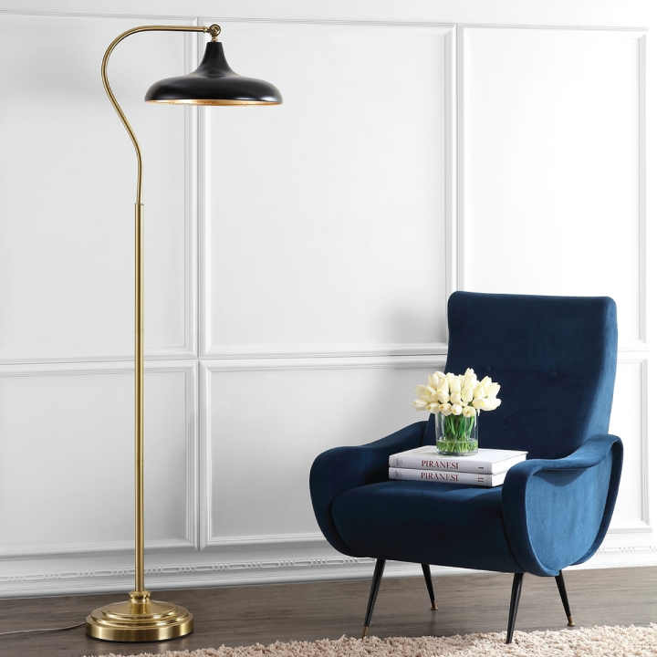 stefan floor lamp black in living space