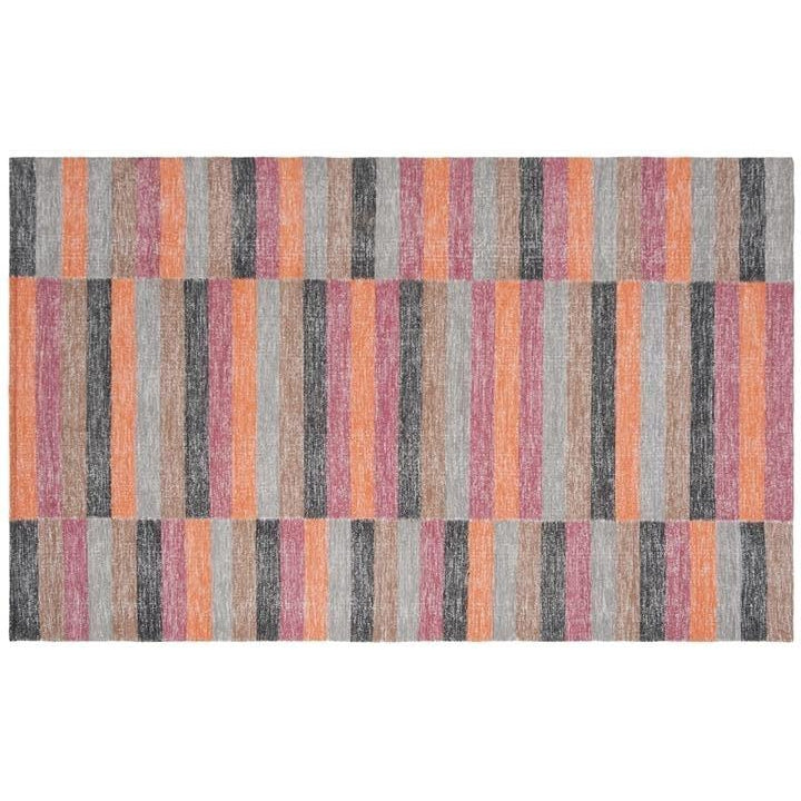 RUST/ MULTI BOHO TRIBAL RUG