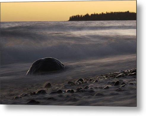 After Sunset By Kadunce River - Metal Print