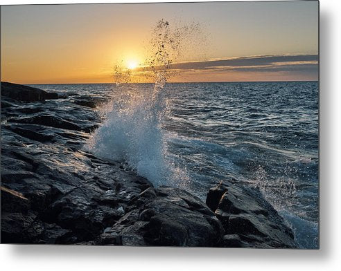 Big Wave After Sunrise - Metal Print