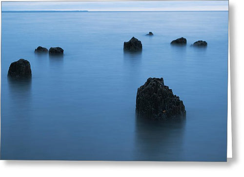 Blue Hour On Lake Superior - Greeting Card