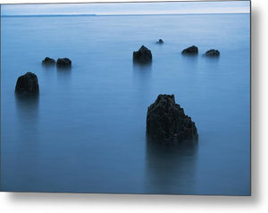 Blue Hour On Lake Superior - Metal Print
