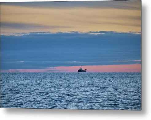 Boat On Lake Superior - Metal Print