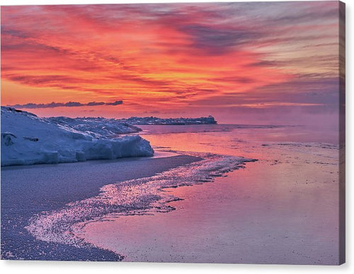 Fire And Ice At The Shore - Canvas Print