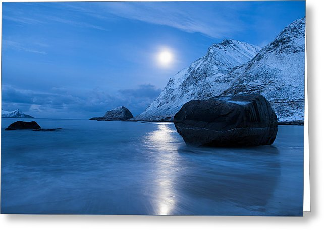 Haukland Beach, Lofoten - Greeting Card