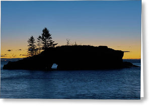 Hollow Rock - Greeting Card