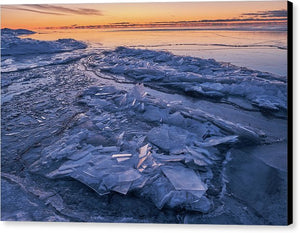 Ice Formations  - Canvas Print