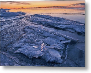 Ice Formations  - Metal Print